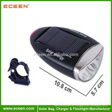 Lanterna elétrica recarregável frente lanterna tocha de bicicleta solar