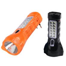 Dual-Functional recargable LED antorcha con enchufe de carga incorporado