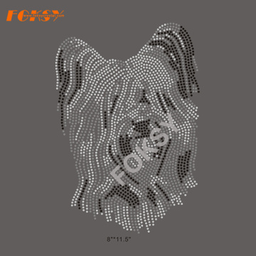 Hot Fix Personalizado Dog Motifs Rhinestone Heat Transfers