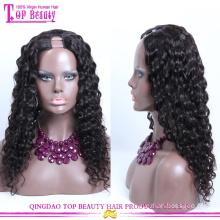 Peluca del pelo humano de la Virgen del grado 7A de la alta calidad U Parte Peluca rizada Afro rizada del U de la parte