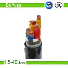 Cabo de alimentação isolado PVC e PVC Jacketed, cabo de potência de 4 núcleos, PVC