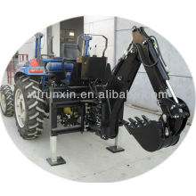 tractor 3 point mounted skid backhoe