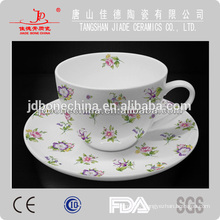 full decal bone china cup&saucer breakfast ceramic coffee mug manufacturing