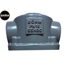 Алюминиевая отливка на клапанной части с подвергать механической обработке и красить