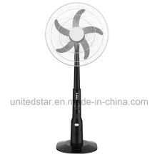 AC/DC Rechargeable Pedestal/Stand Fan with USB Output