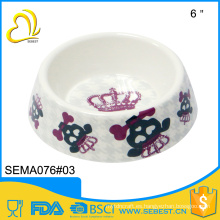 alimentador plástico de la melamina de las mercancías del animal doméstico de la venta directa de la fábrica