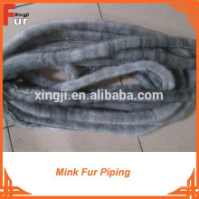 Mink Fur Piping par de vraies queues de vison