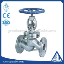 stainless steel 304 steam globe valve with manual
