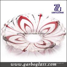 Assiette de verre en verre de 372 mm pour la décoration