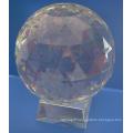 50mm Clear Glass Facet Ball