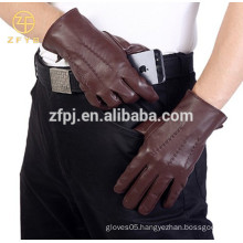 Top qualtiy men's genuine winter fashion leather Igloves