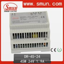 Saída 24V1.9A da fonte de alimentação 45W do interruptor do trilho do RU única