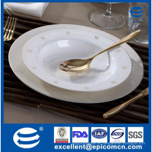 Grosso porcelana china ouro rimmed jantar pratos, grosso ouro-rimmed China jantar prato