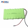 Paquet rechargeable de batterie de 9.6v AAA 800mah Nimh avec le câble