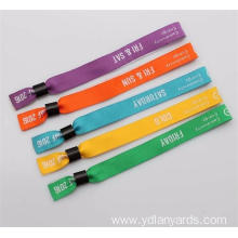 One Time Use Wristbands Polyester Custom Logo