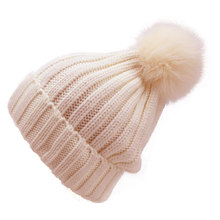 На заказ высокое качество ручной вязаный шерстяной шапки для девочек