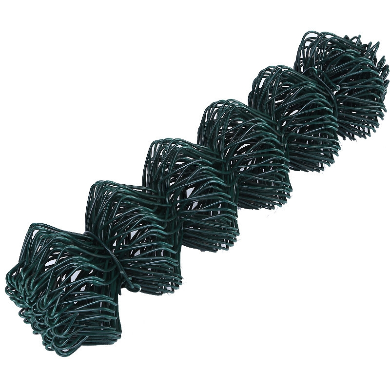 3.5/4.75mm Green Chain Link Fence for Construction