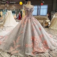 LS00261 vestido de noche largo del desgaste de las señoras atractivas para los patrones gordos de las mujeres del cordón más el vestido de noche del tamaño