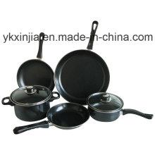Juego de utensilios de cocina de acero no adhesivo de acero de carbono 7PCS