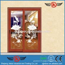 JK-AW9114 porte coulissante en aluminium décoratif moderne de haute qualité