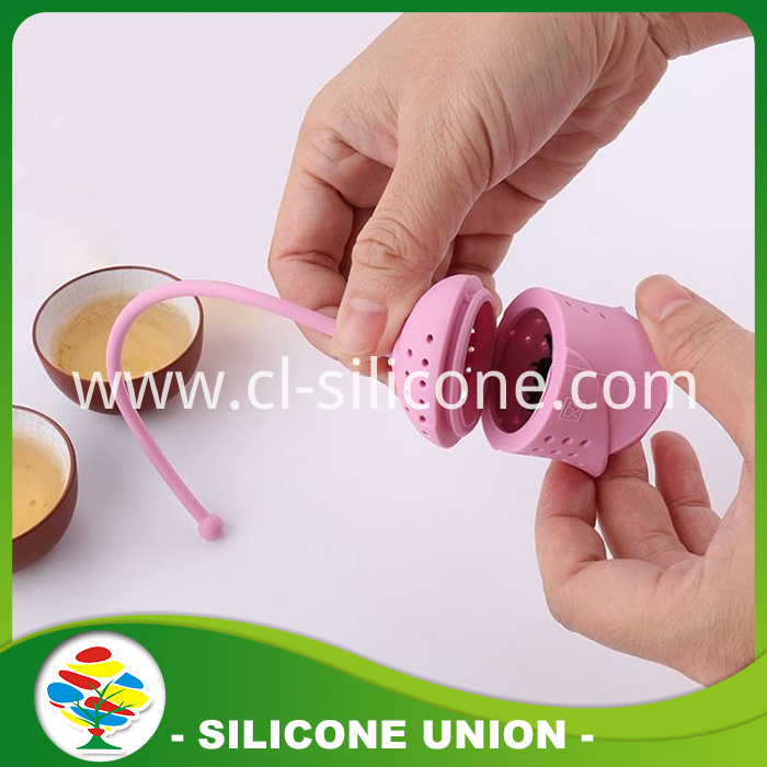 rose shape silicone tea infuser
