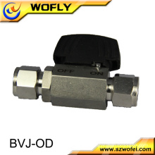 BVJ-6OD 6mm tube outside diameter 1000psi stainless ss316 union ball valve