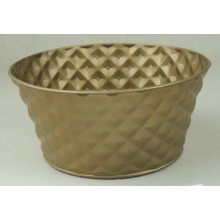 Golden stamping flower bucket
