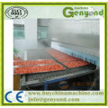 Tunnel de congélation rapide pour les aliments de mer