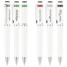 Metall weiße Kugelschreiber