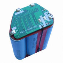 Lithium-ion Battery Packs, 18650 Cell, 18.5V Voltage, 2,400mAh Capacity