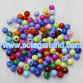 4MM Round Acrylic Opaque Spacer Pony Beads Charms For Jewelry Making