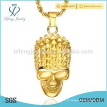 Pingente de aço inoxidável banhado a ouro, pingente banhado a ouro 18k