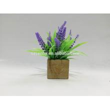 Flor de glicínia artificial de plástico para venda