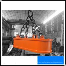 Electroimán de elevación de forma ovalada para chatarra de acero