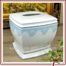 Household Item Wholesale Ceramic Porcelain Napkin holder Tissue Box