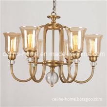 6 Lights Glass Shade Pendant Lamp (SL2214-6)