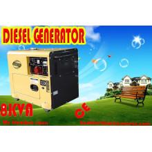 Самая низкая цена 6000W 6кВт портативный дизельный бесшумный генератор, 7.5кВА беззвучный тип