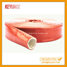 Silicone Coated Braided Fiberglass Fire Sleeve