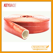 Manga de fuego de fibra de vidrio trenzada recubierta de silicona