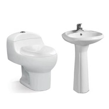 Toilet and pedestal basin set