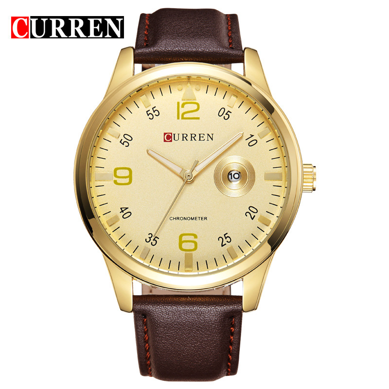 curren alloy antique watch classical business watch