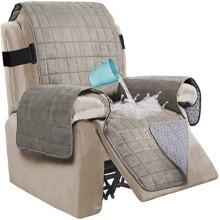 La housse de chaise inclinable en daim ultra 100% imperméable de salon couvre le protecteur