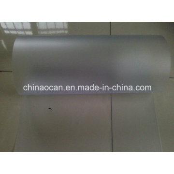 Feuille givrée transparente en PVC