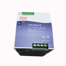 Original meanwell 960W slim 3 phase high input voltage din rail power supply 48VDC 20A TDR-960-48