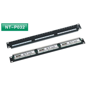 Dual IDC 24port utp cat6 patch panel