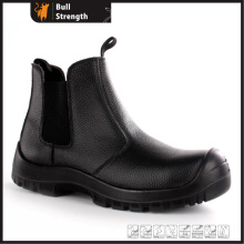 PU/PU Outsole Leather Chelsea Boot with Steel Toe (SN5449)