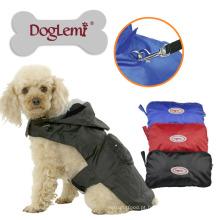 7 tamanhos portátil impermeável cão capa de chuva nylon malha cão pet capa de chuva