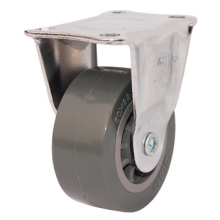 Light Duty Fixed PU Caster, Suitable for Cabinets