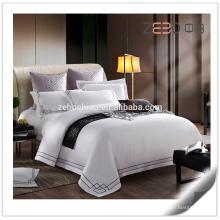 Hotel de 5 estrellas 80s usado Sábanas de algodón blanco tamaño King Hojas de hotel