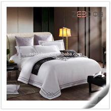 Hotel de 5 estrelas Usado 80s Conjuntos de cama Algodão Branco King Size Hotel Sheets